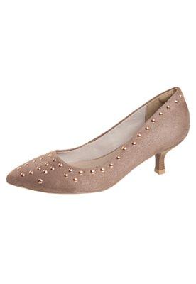 Sapato Scarpin Rebites Marrom - Anna Flynn