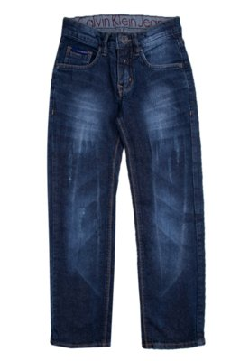 Calça Jeans Calvin Klein Kids Skinny Trecho Azul