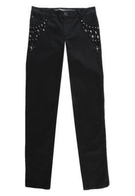 Calça Jeans Sacada Skinny Pedrarias Preta