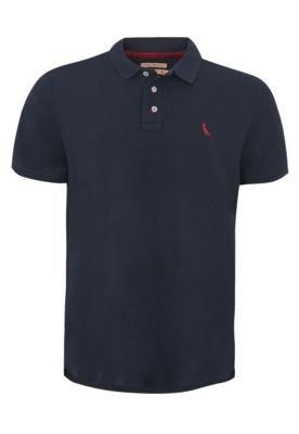 Camisa Polo Reserva Bordado Azul