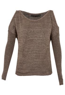Blusa Calvin Klein Jeans Glam Marrom