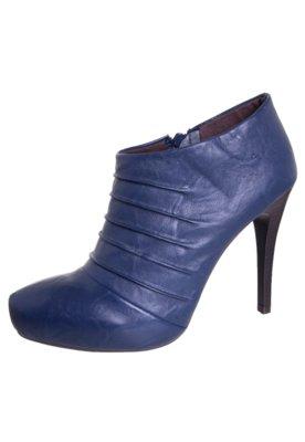 Ankle Boot Via Uno Drapeada Azul