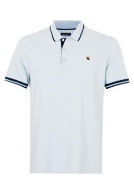 Camisa Polo Bordado Azul - FiveBlu