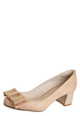 Sapato Scarpin Anna Flynn Maxy Bege