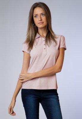 Camisa Polo Jeannie Rosa    - Billabong