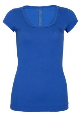 Blusa Petit Bordado Lateral Azul - Sommer