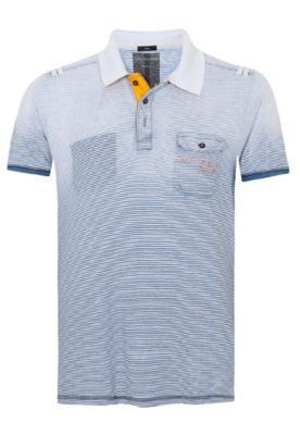 Camisa Polo Calvin Klein Authentic Branca e Azul - Calvin Kl...