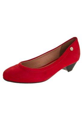 Sapato Scarpin Vizzano Salto Baixo Básico Vermelho