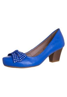 Sapato Scarpin Bottero Laço Hotfix Azul