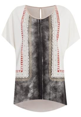 Blusa Sommer Classica Scarf Bege