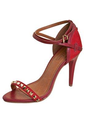 Sandália Triton Tornozeleira e SPikes Glam Vermelha