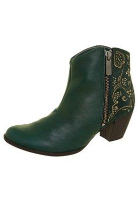 Ankle Boot Dakota Bordado Verde