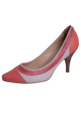 Sapato Scarpin Andarella Elegance Bege