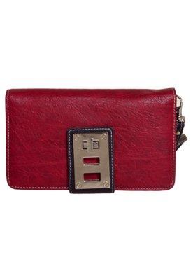 Carteira WJ Elegance Vermelha/Marrom