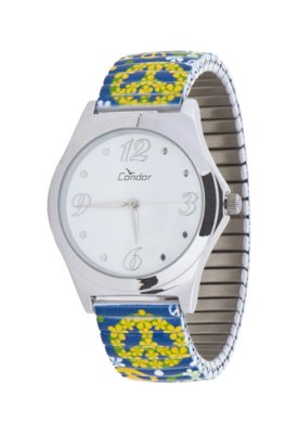 Relógio Condor KF60706B Hippie Azul