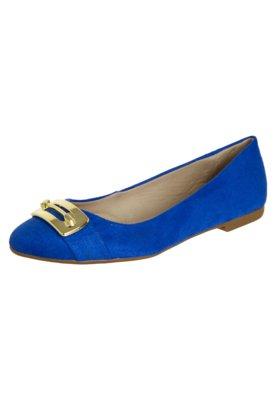 Sapato Scarpin Anna Flynn Metallic Azul
