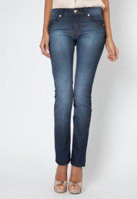 Calça Jeans Verônica Reta Clean New Azul - Forum