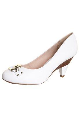Sapato Scarpin Beira Rio Salto Diferenciado e Tira Branco