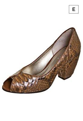 Sapato Invitto Phython Marrom