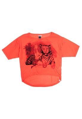 Blusa Loose Tigre Laranja - Colcci T