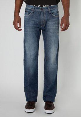 Calça Jeans Calvin Klein Jeans Reta Classic Stone Azul