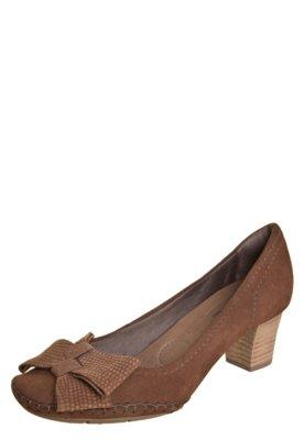 Sapato Scarpin Usaflex Ponto Celeiro Laço Marrom