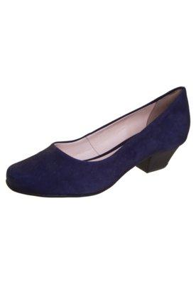 Sapato Scarpin Bottero Salto Baixo Básico Azul