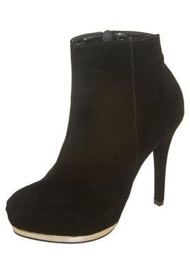 Ankle Boot Meia-Pata Preta - FiveBlu