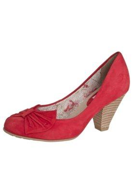Sapato Scarpin Bottero Salto Médio Leque Vermelho