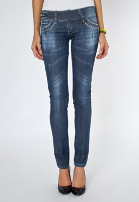 Calça Jeans Sawary Brillance Azul