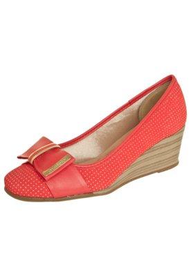 Sapato Scarpin Azaleia Anabela Laço Vermelho