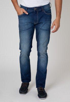 Calça Jeans Forum Gilmar Pespontos Azul