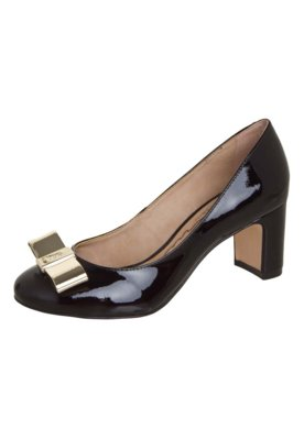 Sapato Scarpin Carmim Salto Médio Laço Glam Preto