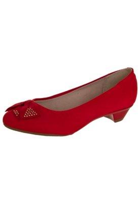 Sapato Scarpin Beira Rio Laço Hot Vermelho