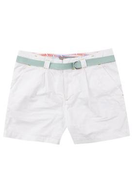 Bermuda Sarja Cinto Color Branca - Cantão