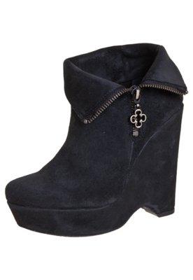 Ankle Boot Dobra Preta - Capodarte