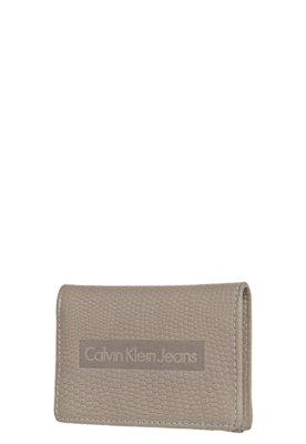 Carteira Jeans Textura Bege - Calvin Klein