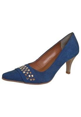 Sapato Scarpin FiveBlu Tachas Azul