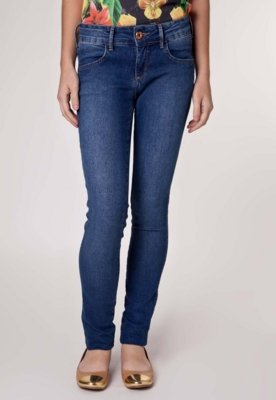 Calça Jeans Coca-Cola Clothing Demi Skinny Pack Azul - Coca...