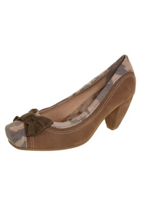 Sapato Scarpin Salto Médio Laço Marrom - Crysalis