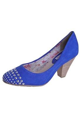 Sapato Scarpin Bottero Salto Médio Hotfix Azul