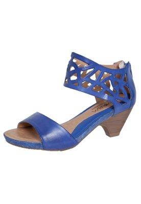Sandália Ramarim Vazados Azul