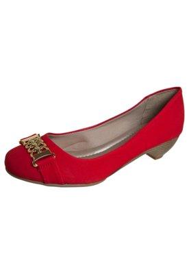 Sapato Scarpin Anna Flynn Salto Baixo Vermelho