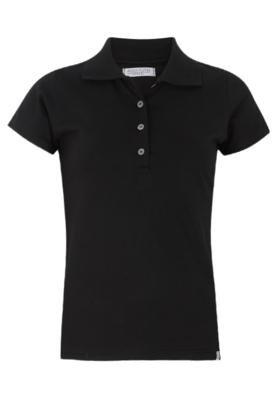Camisa Polo Anna Flynn Basic Preta - Anna Flynn Casual