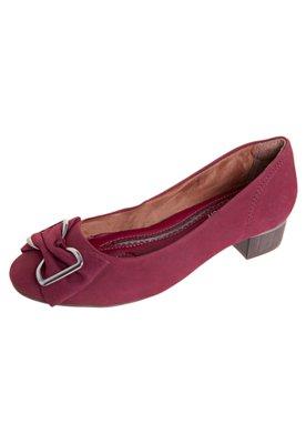 Sapato Scarpin Ramarim Fivela Vinho