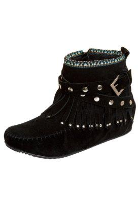Ankle FiveBlu Boot Franja Preta