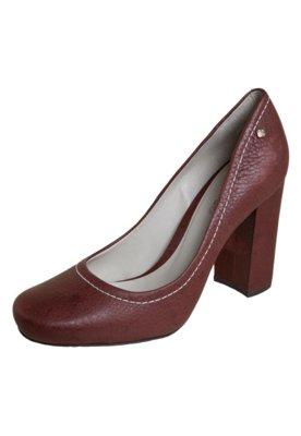 Sapato Scarpin Capodarte Salto Grosso Vinho