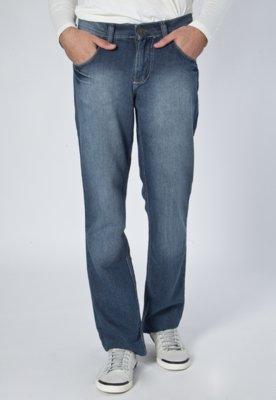 Calça Jeans Reta Amassados Azul - Toulon