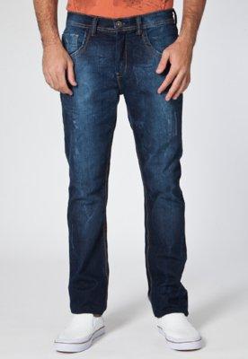 Calça Jeans Reta Desfiados Azul - TNG