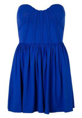 Vestido Triton Reto Tiras Azul